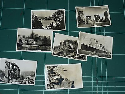 Sights Of Britain, Small Selection Of Senior Service Cigarette Cards
