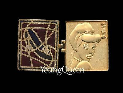 DLR Disney Cinderella Hinged Stained Glass Slipper Pin