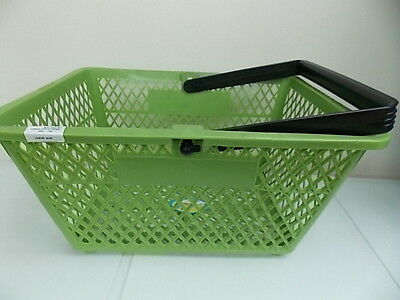 Shopping Basket-Plastic Environmentally Friendly-Save On Plastic&paper Bags-Grn