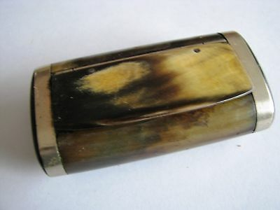 French cattle horn snuff box