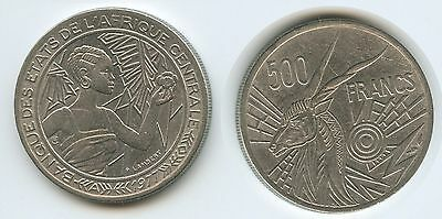 G12843 - Chad Tschad 500 Francs 1977 A KM#12 RAR Central African States