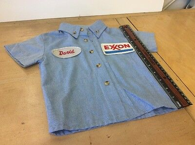 Nice vintage EXXON Toddler Service Station Shirt. Country Store item. Collectibl
