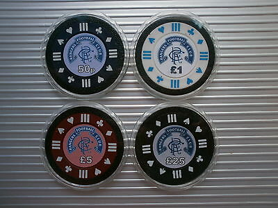 Choose 1 Rangers Fc Poker Card Guard/protector Or 2 Chips