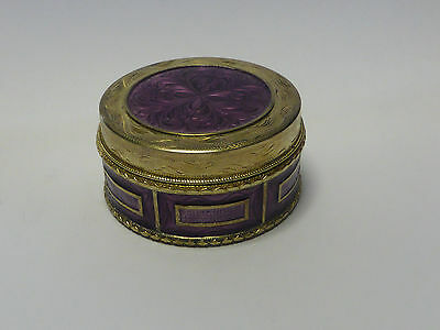 Antique Vintage Sterling Silver and Guilloche Enamel Box
