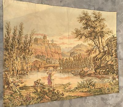 Antique French Tapestry - 108 X 145 Cm