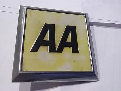 Square Chrome Aa Car Badge / Mascot Without Fixing
