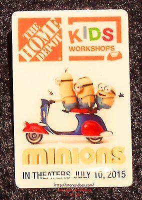 LMH PINBACK Pin Button  MINIONS SCOOTER  Home Depot Kids Workshops  Movie Promo