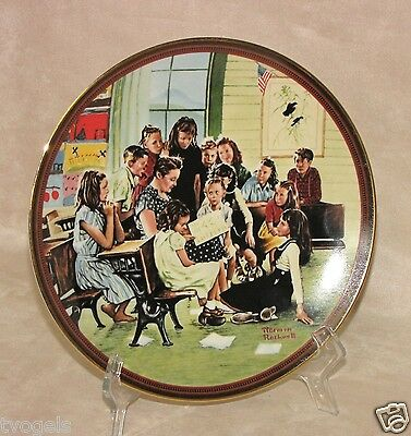 Vintage Knowles Normal Rockwell Story Hour China Porcelain Collectors Plate