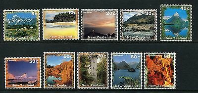 1996 New Zealand Mnh Sg 1925-1934 Scenery Definitive Stamps