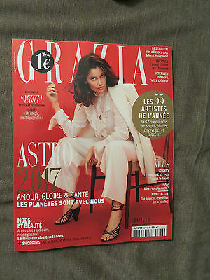 French Grazia Magazine 23 December 2017 issue with Laetitia Casta on the cover