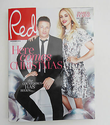 Red Magazine December 2016 issue with Jamie Oliver and Fearne Cotton on cover