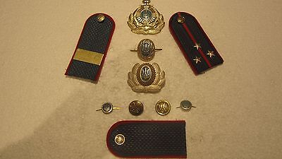 Police Badges And Uniform Insignia For The Ukraine Police ~ Vintage Obsolete