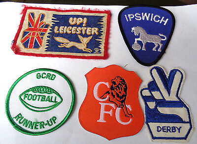 Footsall Clubs Derby Ipswich Leicester Chelsea Cloth Patches