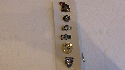 6 America Nypd And Other American Police Pins ~ Vintage Obsolete