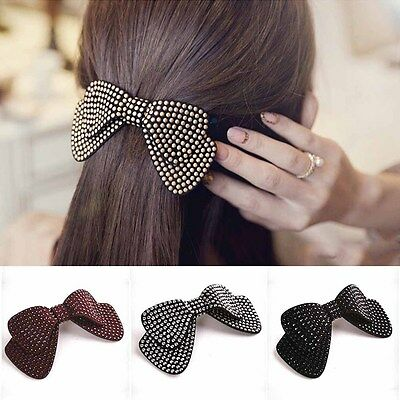 Double Layer Bow Hair Accessories Hairpins Spring Clip Women Girl Exquisite