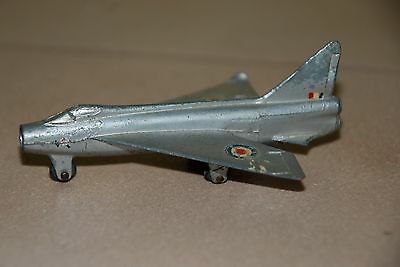 "DINKY TOYS 1950s ""P. IB Lightning"" Metal Airplane Made in England"