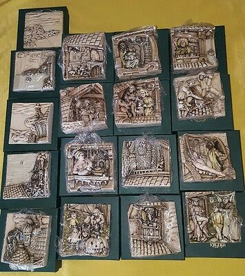 Harmony Kingdom Picturesque WIMBERLEY TALES Lot of 17 Magnetic 3D Tiles NIB