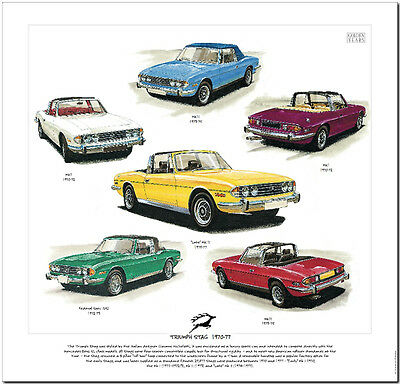 Triumph Stag---Car Art Print