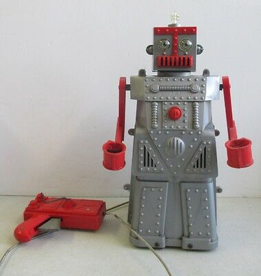 """Vintage Ideal Robert The Robot With Remote Control 14"""""""