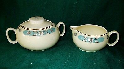 Cavitt-Shaw Cherokee by WS George large sugar bowl with lid and creamer