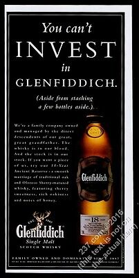 2001 The Glenfiddich Ancient Reserve 18 year old Scotch Whisky Invest print ad