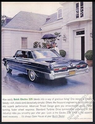 1962 Buick Electra 225 coupe dark blue car photo vintage print ad