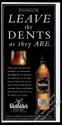 2001 The Glenfiddich Ancient Reserve 18 year Scotch Whisky leave the Dents ad