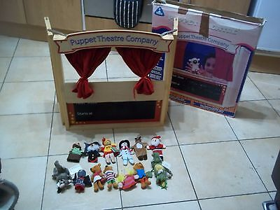 ELC Wooden Puppet Theatre with 13 Finger Puppets BOXED