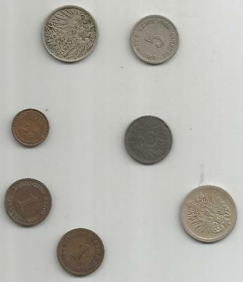 lot monnaies allemagne germany german empire