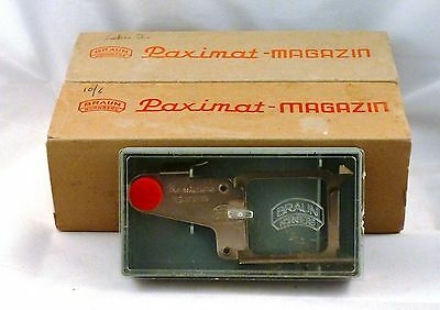 2 Braun Paximat slide projector magazines and slider, boxed