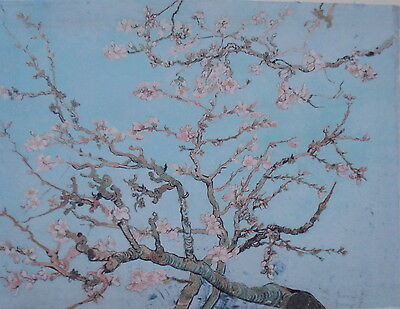 Van Gogh Almond Blossoms Pastel Painting Print on Canvas Ready to Hang NEW!