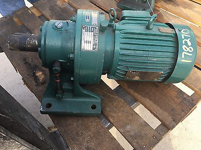 Sm-Cyclo Gear Box, Output Rpm 20, Ratio 87, With Toshiba 2 Hp Motor, Used