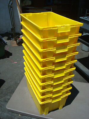 24 X Usa Made Warehouse Shelving Rack Storage Tote Nest Stack Tub Container Bin