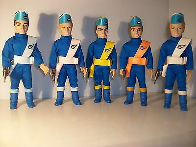 """Thunderbirds set of 5 rare Japanese exclusive  vintage collectable 10"""" dolls"""