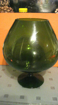 Vintage Large Green  Brandy Glass No Cat Sorry