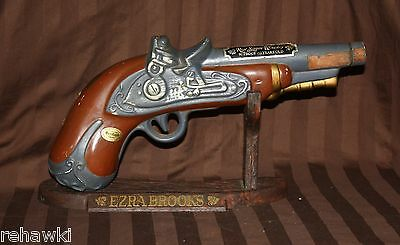 Ezra Brooks PISTOL GUN w/STAND  decanter like JIM BEAM