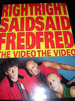 Original Right Said Fred Promotional Poster - Up - The Video