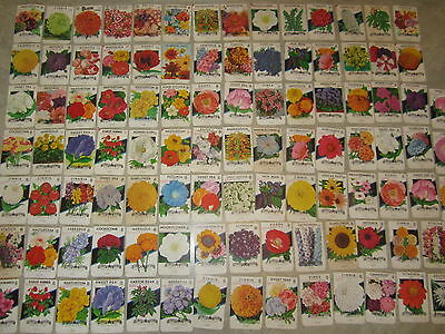 Lot of 100 Different Old Vintage 1940's-70's FLOWER SEED PACKETS - Texas - EMPTY