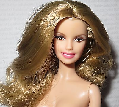 (B) Nude Barbie ~Blonde Brown Eye Model Muse Faith Hill Celebrity Doll For Ooak