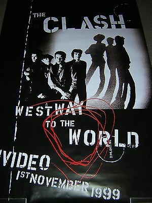 Original Clash Large Promotional Poster - Westway To The World