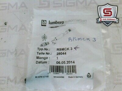Lumberg Automation RSMCK 3 Field Connector Size M8 3 Pole