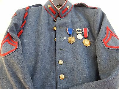 Vintage 1940s-50s Valley Forge Military Jacket Superior Cadet NRA Shooting Medal