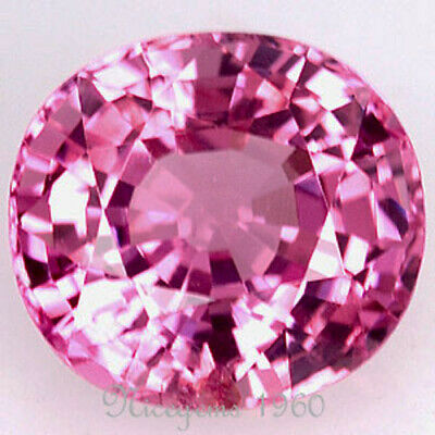 Certified! Oval~1.65 Cts. Pink Color! Natural Spinel Ceylon! Unheated