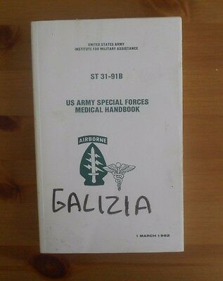 reprint US ARMY SPECIAL FORCES MEDICAL HANDBOOK