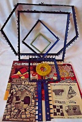 Lot/Set Of 6 Vintage Lily - Straits & Other Weaving/Flower Looms & Booklets