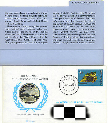 Chobe River Republic of Botswana  Medals of The Nations  World Sterling Silver