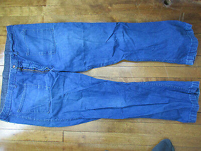 Vintage 1970s Mens Jeans Bell Bottom 42x28 Dungarees 2B (t)