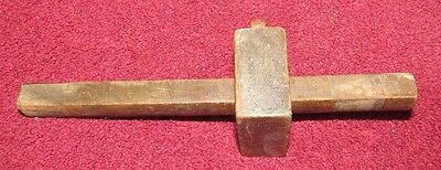 VINTAGE Primitive Wood Scribe Wooden Marking Gauge Tool  (C)
