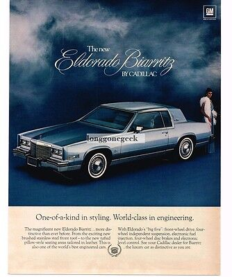 1979 Cadillac BIARRITZ Light Blue 2-door Coupe Vtg Print Ad