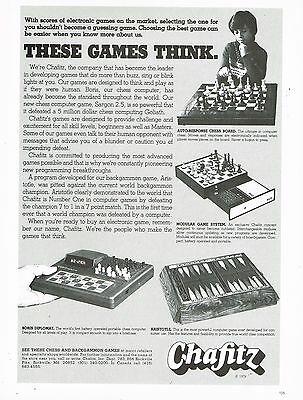Chafitz - Games - Chess - Aristotle - Centurion Watch - Vintage 1979 Magazine Ad